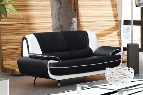deco in canape 3 places design noir et blanc marita marita 3 pl noir blanc
