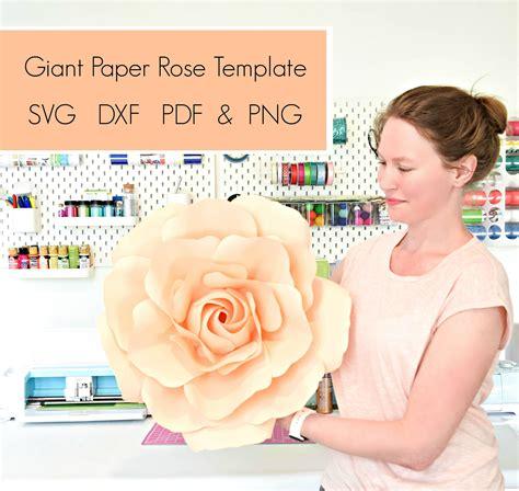 svg flower template  flower template giant rose paper
