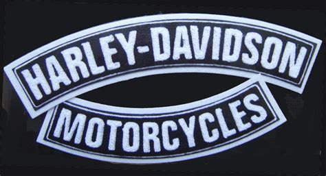 Harley Davidson Chenille Top & Bottom Rockers Jacket Vest