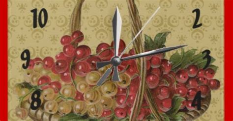 Red Grapes In A Basket Square Wall Clock