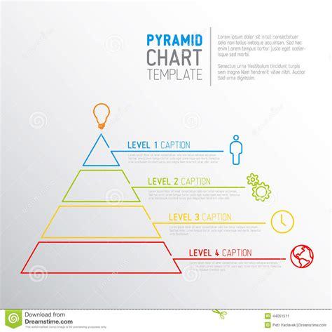 Pyramid Chart Diagram Template Stock Vector Image