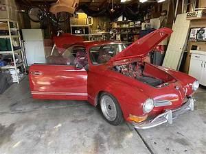 1970 Volkswagen Karmann Ghia Sportscar Red Rwd Manual
