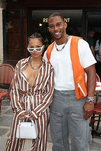 KARRUECHE TRAN and Victor Cruz at Louis Vuitton Menswear ...
