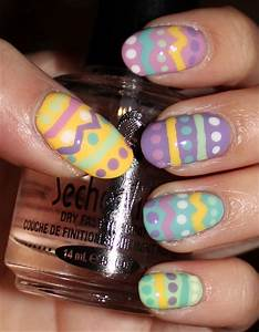 Nail art tutorial easter egg nails swatch and learn