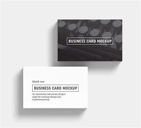 black white business card mockup psd templates