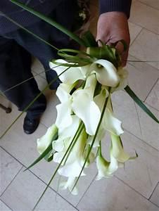 bouquet de mariee avec que du calla blanc le jardin d39yvan With chambre bébé design avec bouquet mariée original