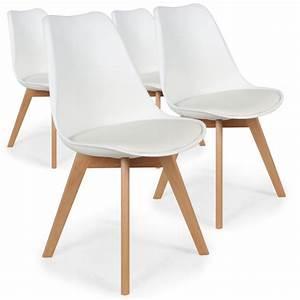 Lot 4 Chaises Scandinaves : chaises scandinaves ericka blanc lot de 4 pas cher scandinave deco ~ Teatrodelosmanantiales.com Idées de Décoration
