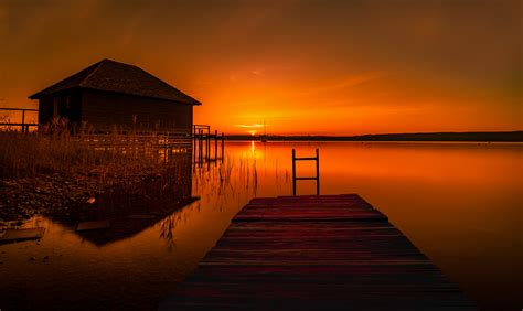 house  pier lake hd nature  wallpapers images