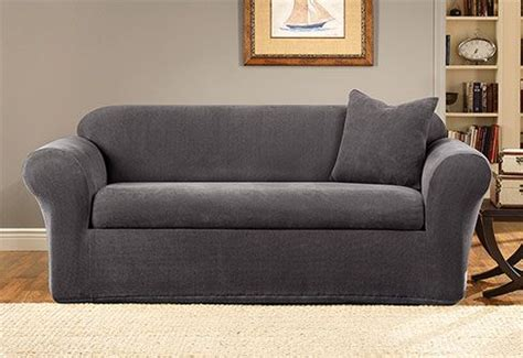 Gray Loveseat Slipcover by Chair Slipcovers Chairs And Charcoal Gray On