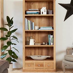 Mobel Oak Large Three Drawer Bookcase Was 59000 Now 499
