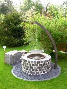 Brasero En Pierre : barbecue en pierre firepit pinte ~ Nature-et-papiers.com Idées de Décoration