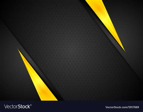 Abstract Black And Yellow Design by Contrast Black Yellow Background Royalty Free Vector