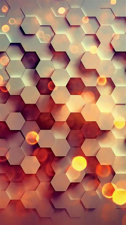Hexagon Pattern Background Abstract Digital Honey Iphone