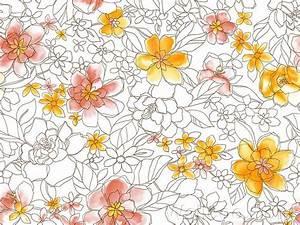 Flower Patterns, Artistic Flower Drawing 39 - Wallcoo.net