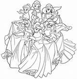 Coloring Disney Princesses Pages Princess Printable Adults Swan Printables Jasmine Together Adult Prince Belle Elsa Getdrawings Getcolorings Colorings Discover sketch template