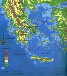Ancient Greece Map with Landforms