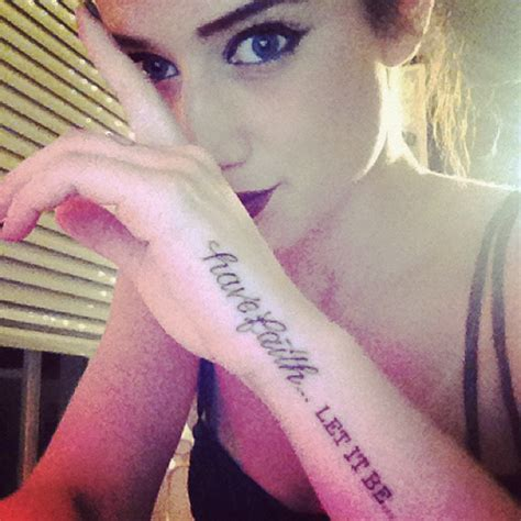 katie waissels  tattoos meanings steal  style