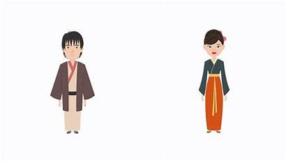 Japanese Characters Ethnic Character Animated Animaker Tokyo