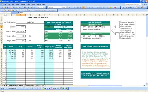 Baby Growth Chart Excel Templates