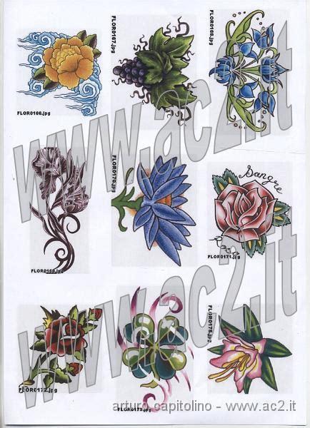 catalogo tatuaggi fiori cataloghi disegni fiori colorati fiori colorati 061