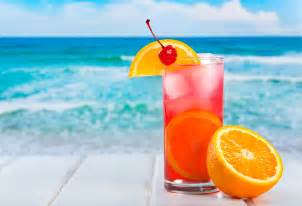 Tropical Beach Cocktails Drink