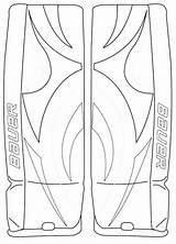 Hockey Coloring Goalie Pages Mask Helmet Nhl Getcolorings Printable sketch template