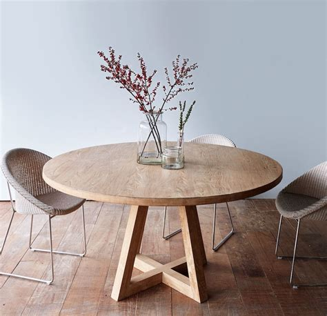 Runde Tische Holz by Cross Leg Dining Table Whitewashed Teak 160 Home