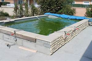 construction d39une piscine aqua discount semi enterree With marvelous construction piscine hors sol en beton 15 bloc piscine