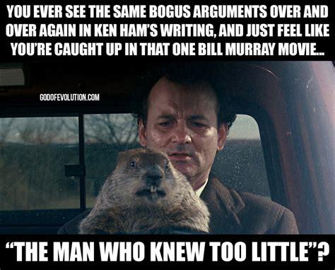 Groundhog Meme - a meme about groundhog day god of evolution