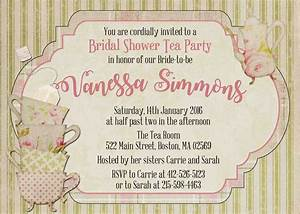 Vintage Bridal Shower Tea Party Invitation - and 50 ...