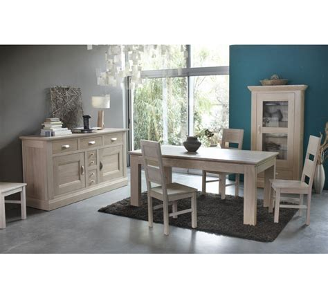 table rectangulaire avec allonge ch 234 ne massif quot stockholm blanchi quot 180cm 2138