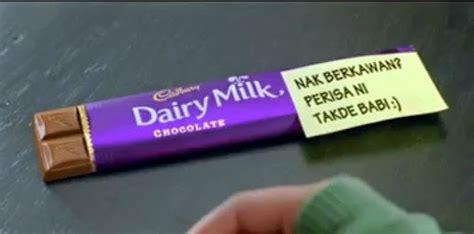 video iklan coklat cadbury versi takde babi sehinggit