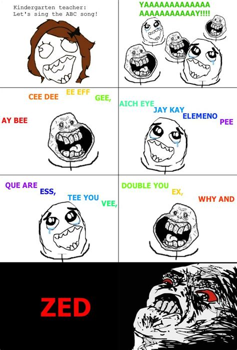 Meme And Rage - rage comics the abc song as a canadian funny rage