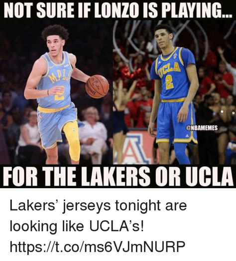 NOT SURE IF LONZO IS PLAYING FOR THE LAKERS OR UCLA Lakers ...