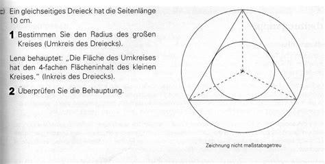 dreieck im kreis berechnen mathelounge