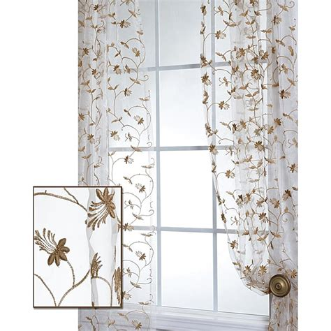 exclusive fabrics fiona floral white embroidered