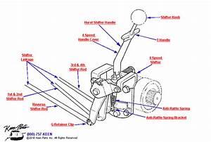 1958 Corvette Shifter Parts