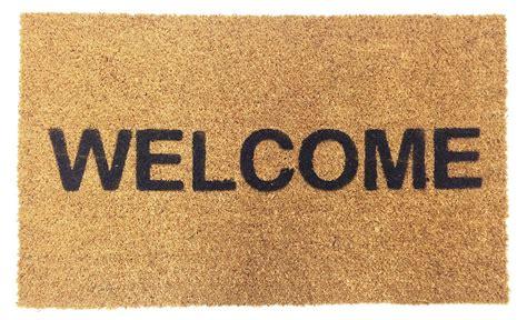 doormats and more vinyl backed welcome coco doormat coco mats n more
