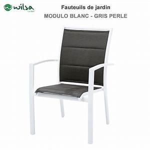 Fauteuil De Jardin Blanc : fauteuil de jardin modulo blanc 114 50 ~ Teatrodelosmanantiales.com Idées de Décoration