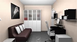 deco bureau chambre d39amis recommandations pour y arriver With chambre d amis et bureau