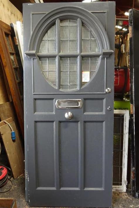 architectural salvage glass panel door  entrance door  front door  large oval
