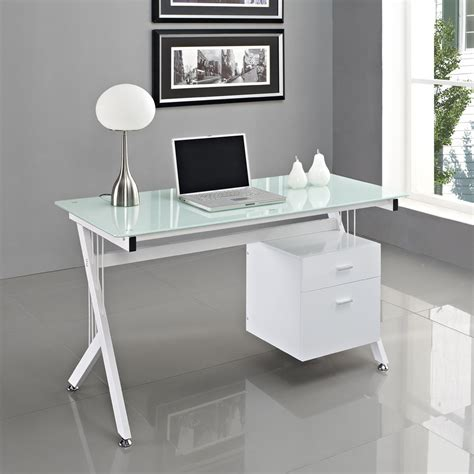 Office Desk Bc by Clear Glass Top Espresso Base Modern Home Office Desk Ideas