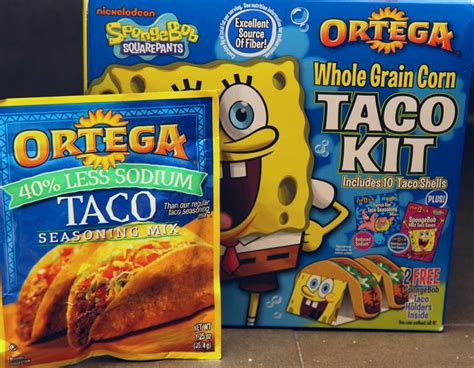 spongebob cuisine celebrate taco tuesday with spongebob oretega taco