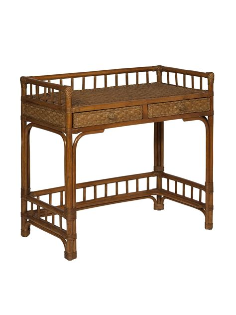 Cottage Furniture by Cottage Wicker Rattan Writing Desk Cottage Home 174