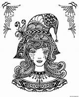 Coloring Halloween Pages Adults Witch Printable Printables Adult Sheets Zen Tangle Doodle Decorative Hat Workedmom Confessionsofanover Round Books Prints Self sketch template