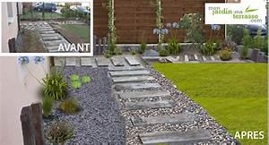 Allée De Jardin Pas Cher : am nager son entr e de jardin zen monjardin ~ Premium-room.com Idées de Décoration