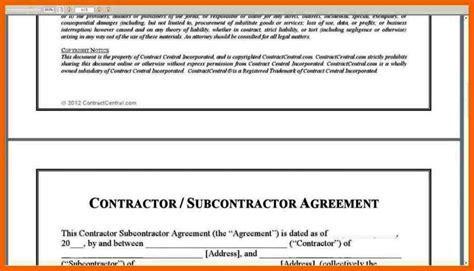 simple subcontractor agreement template sampletemplatess