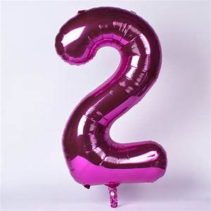 Pink Number 2 Foil Giant Helium Balloon | Only £6.99