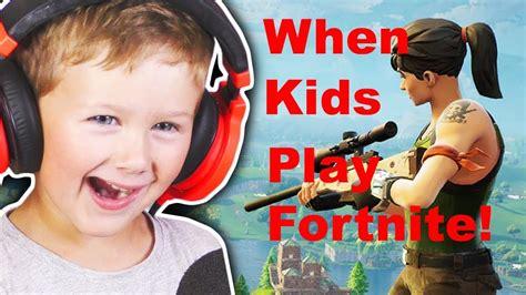kids play fortnite youtube