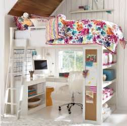 Pottery Barn White Loft Bed With Desk by 20 Incre 237 Bles Ideas Para Ahorrar Espacio En Una Habitaci 243 N